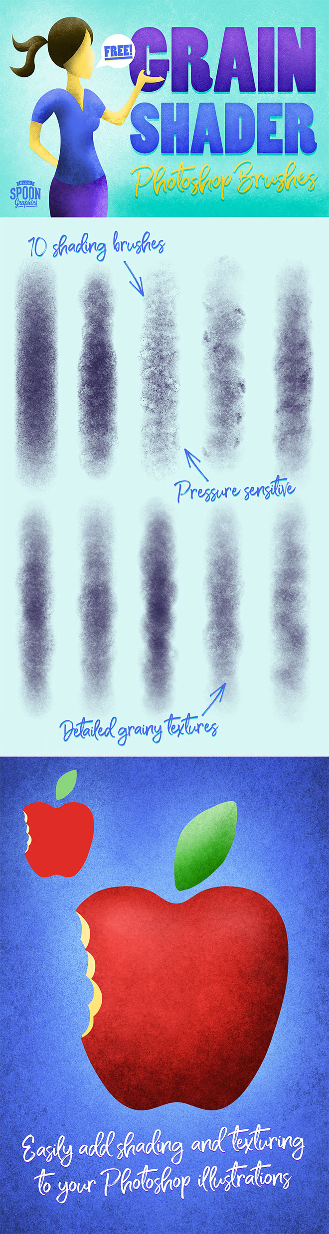 10 Free Grain Shader Brushes for Adobe Photoshop - Best